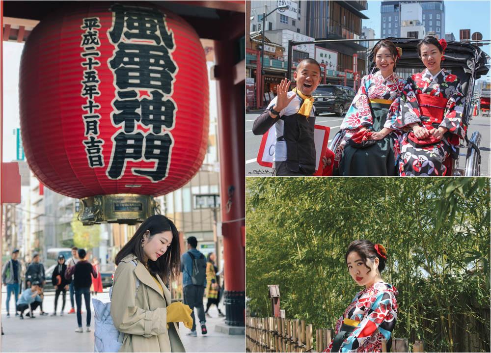 淺草半日遊行程|東京和服+人力車,跟我這樣玩行程超順!