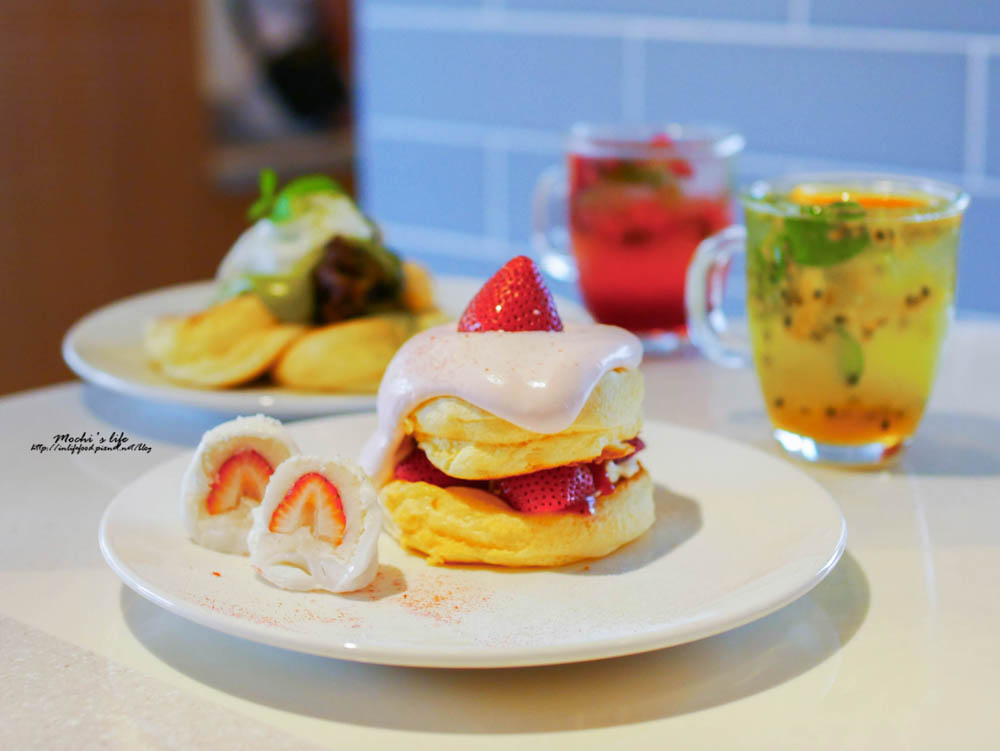 誠品南西鬆餅|FLIPPER'S:不用跑日本的奇蹟舒芙蕾厚鬆餅,台灣限定草莓大福/中山站下午茶鬆餅