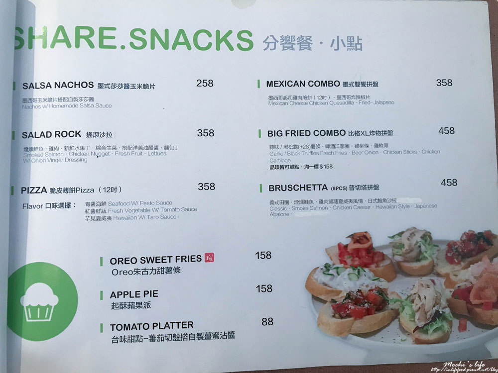 mocktini menu