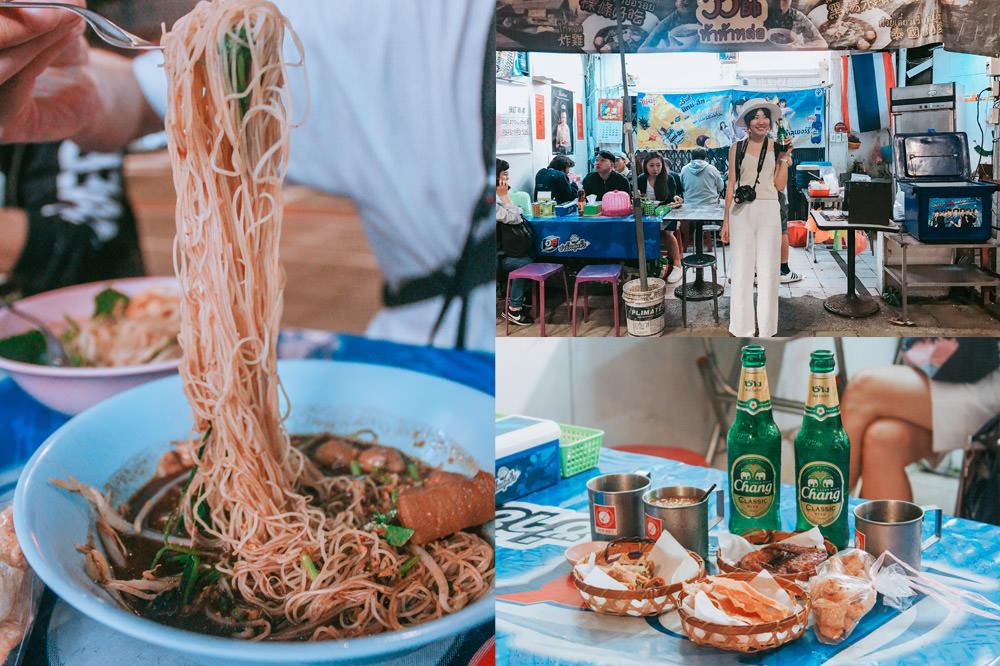 台北信義平價泰式料理推薦 哈哈羅55泰式船麵:台北最泰國的攤販!晚餐限定銅板小吃泰式船麵攤@捷運101站