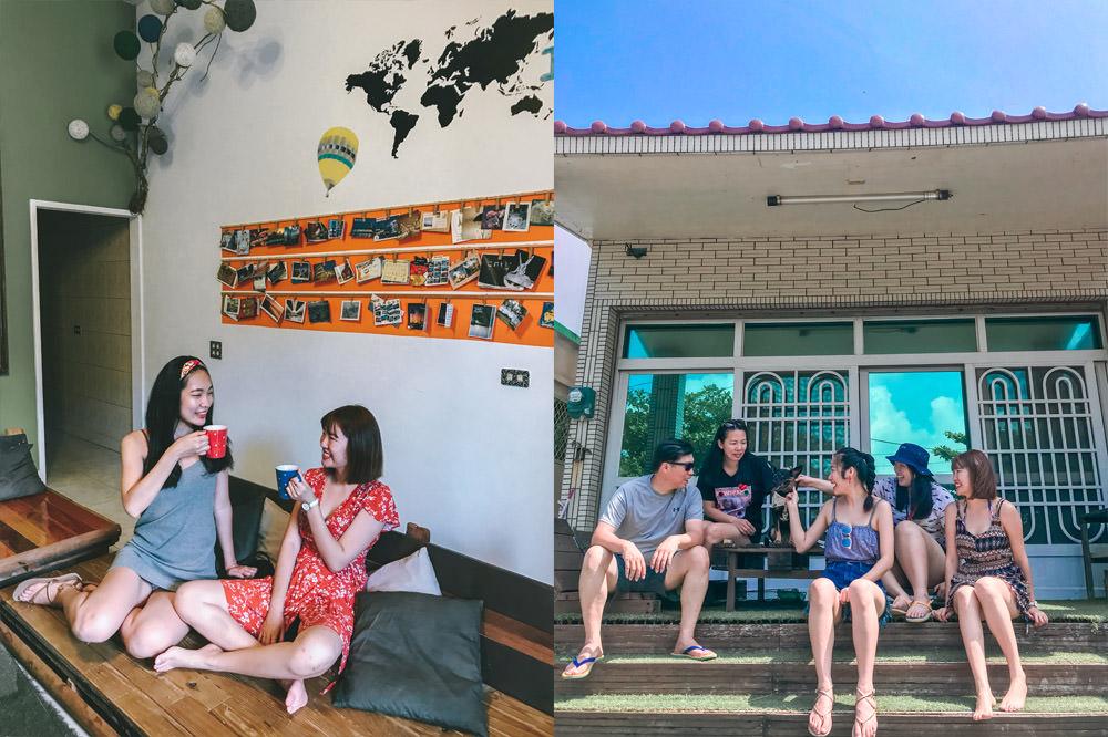 小琉球包棟寵物民宿|夏琉本館:超適合家庭或團體包棟,海子口就可看到海龜!復古旅人流浪風