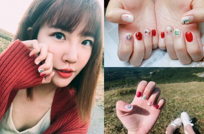 台北凝膠指甲推薦|Sweet nail.涵式紋繡:超精緻的手繪美甲!冬天就要做應景的聖誕指甲款@捷運國父紀念館站