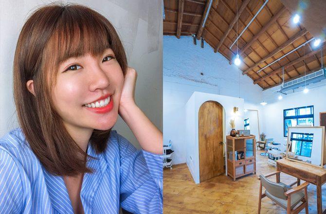 士林燙髮推薦|日青髮廊:超美的髮廊根本咖啡廳!自然卷燙髮,矯正毛躁髮質@捷運士林站
