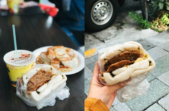 東區平價早餐|家蓁早餐店:平價超人氣!必吃饅頭夾蛋+抓餅@捷運忠孝復興站