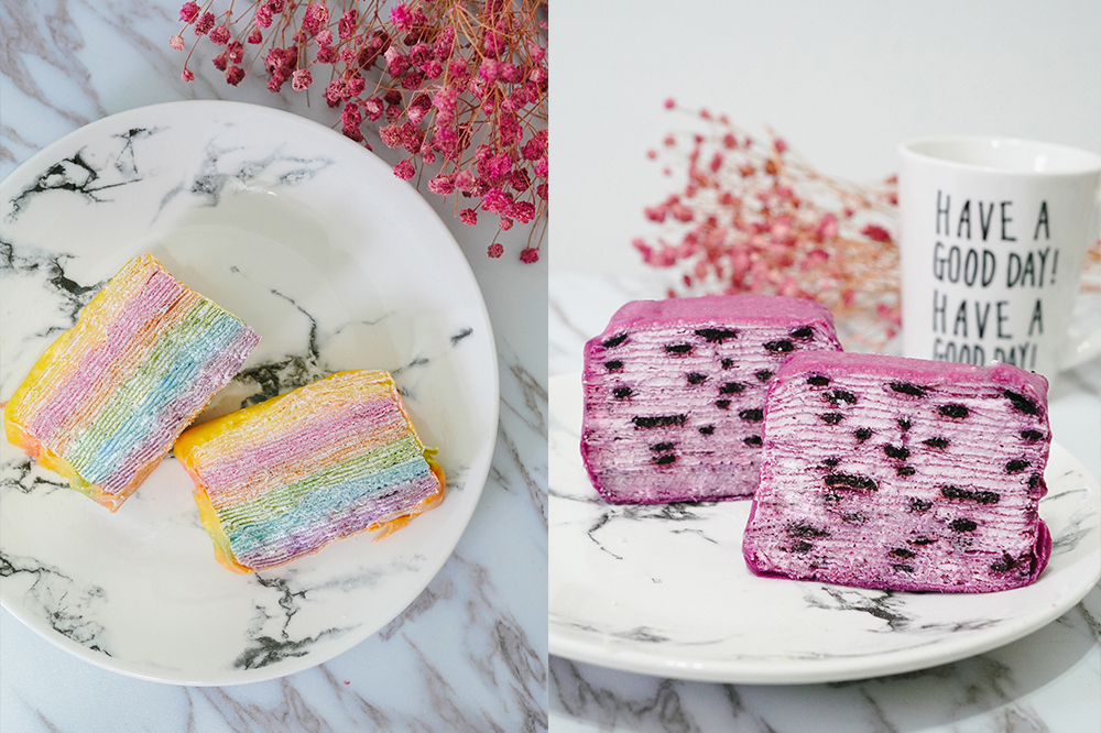 千層蛋糕宅配推薦|台南克林姆之屋:超夢幻彩虹千層蛋糕,多款生日彌月蛋糕選擇!還有豆塔禮盒