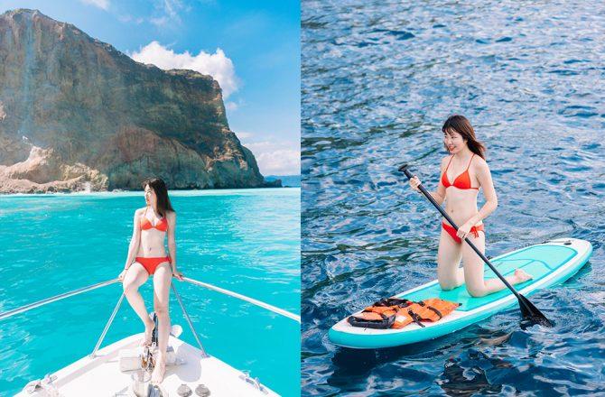 牛奶海SUP費用|不用$2000~多人包船超便宜!但龜山島牛奶海不能下去拍照了?!@宜蘭頭城景點