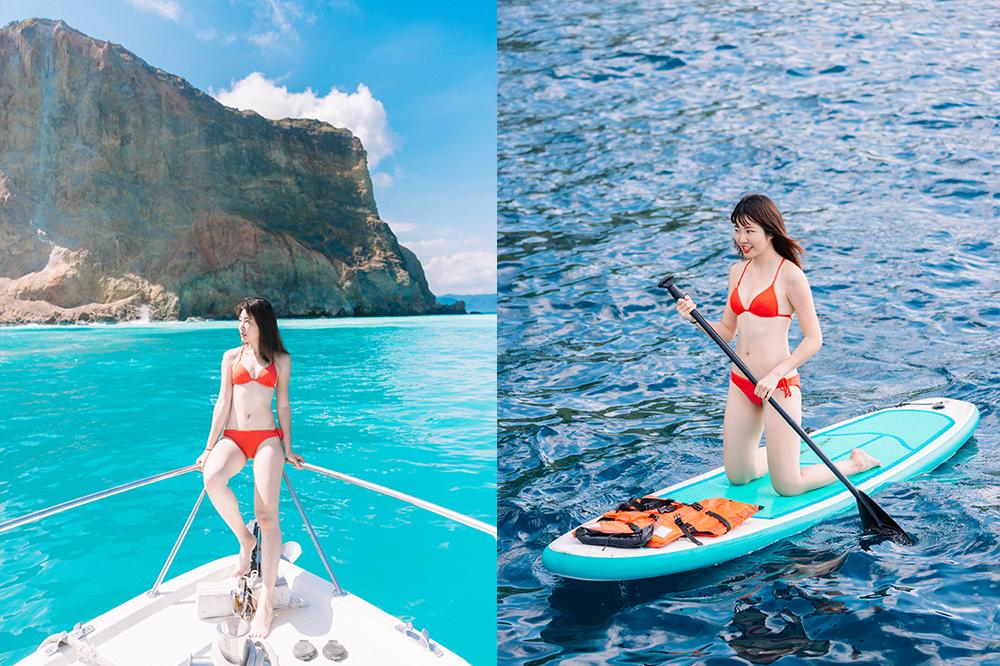 牛奶海SUP費用 不用$2000~多人包船超便宜!但龜山島牛奶海不能下去拍照了?!@宜蘭頭城景點