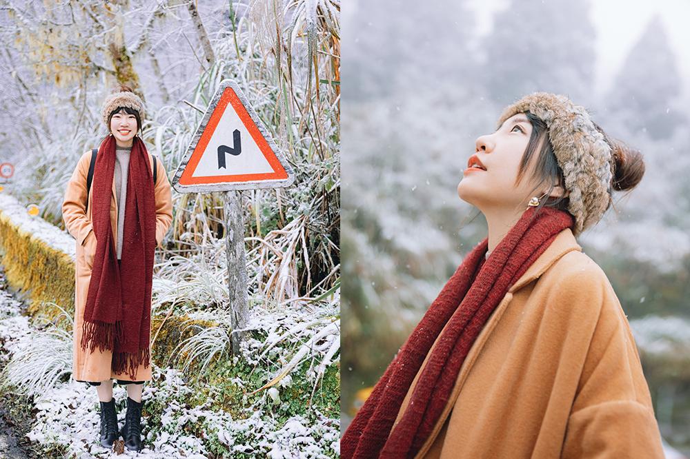 太平山下雪啦!務必帶雪鍊上山!宜蘭一日遊到見晴懷古步道賞雪