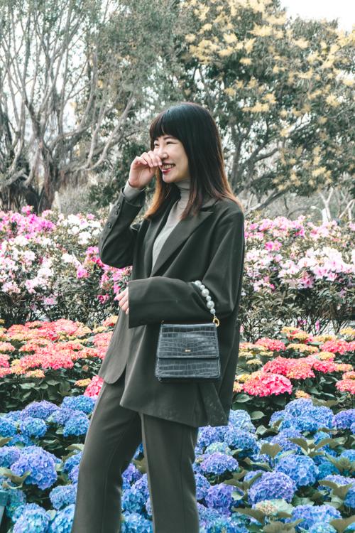 台北捷運一日遊,台北捷運景點,大安森林公園花季,大安森林公園野餐,大安森林公園,大安森林公園繡球花
