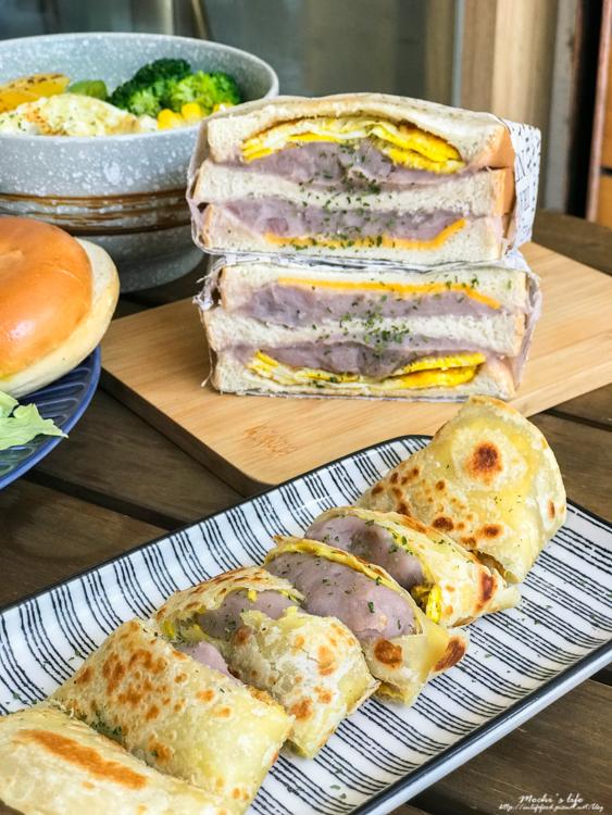 台北平價健康餐,民權西路早午餐,滿腹早午餐,芋泥三明治,芋泥蛋餅