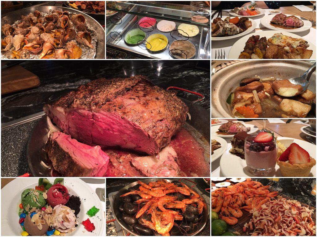 台北buffet吃到飽▌「西華飯店B-one自助餐廳」絕鼎盛宴適合帶家人來用餐,肋眼牛排好吃,服務棒棒@捷運中山國中站(過年限定)