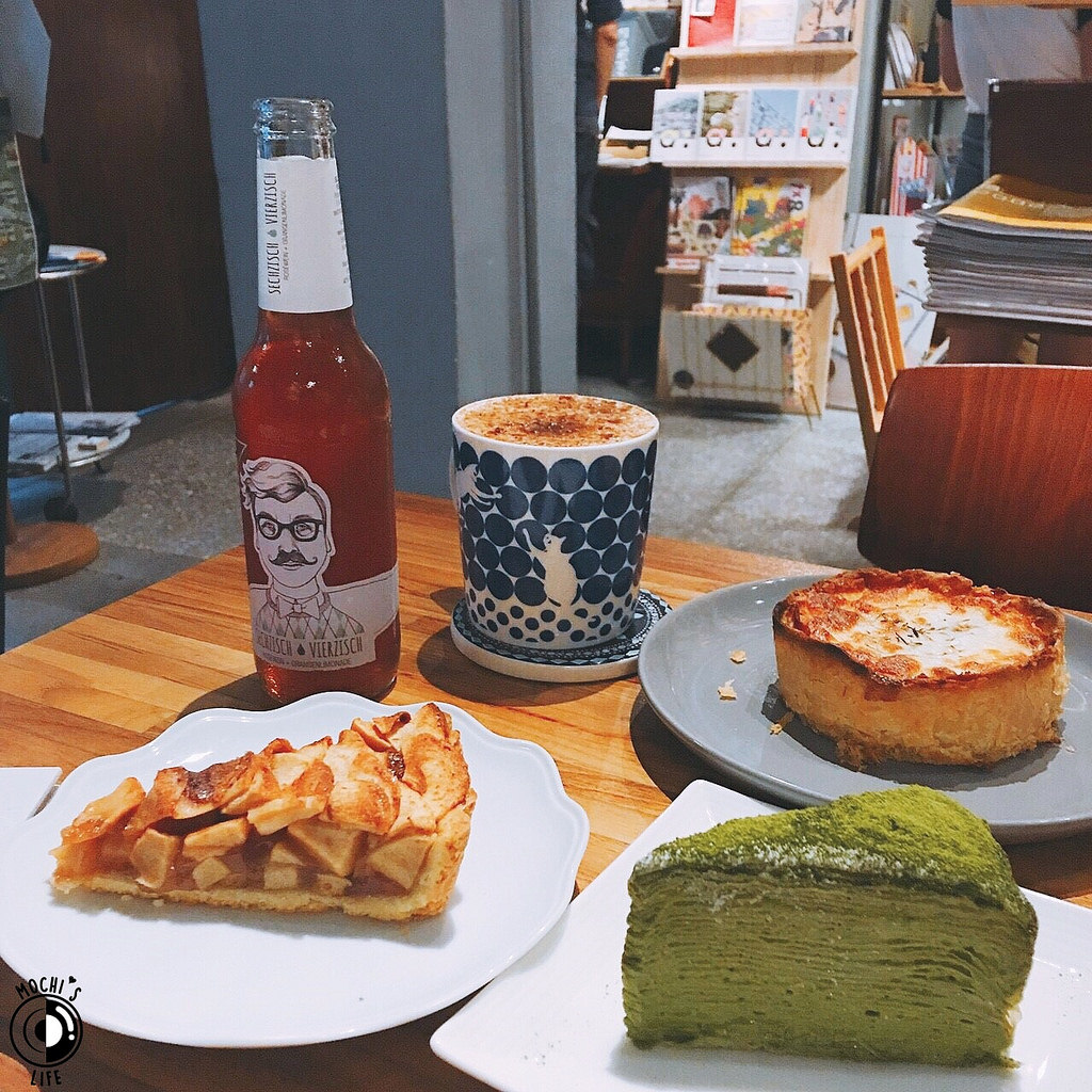 台北下午茶|抹茶控必吃「生活在他方」的抹茶千層蛋糕,媲美Lady M/可愛繪本咖啡廳@捷運中正紀念堂站(生活在他方菜單)