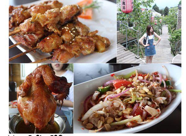 清境美食▌「好雞婆土雞城」:巴洛克帳棚讓我置身在雲南高原!清境農場上的雲南擺夷料理(食尚玩家清境)